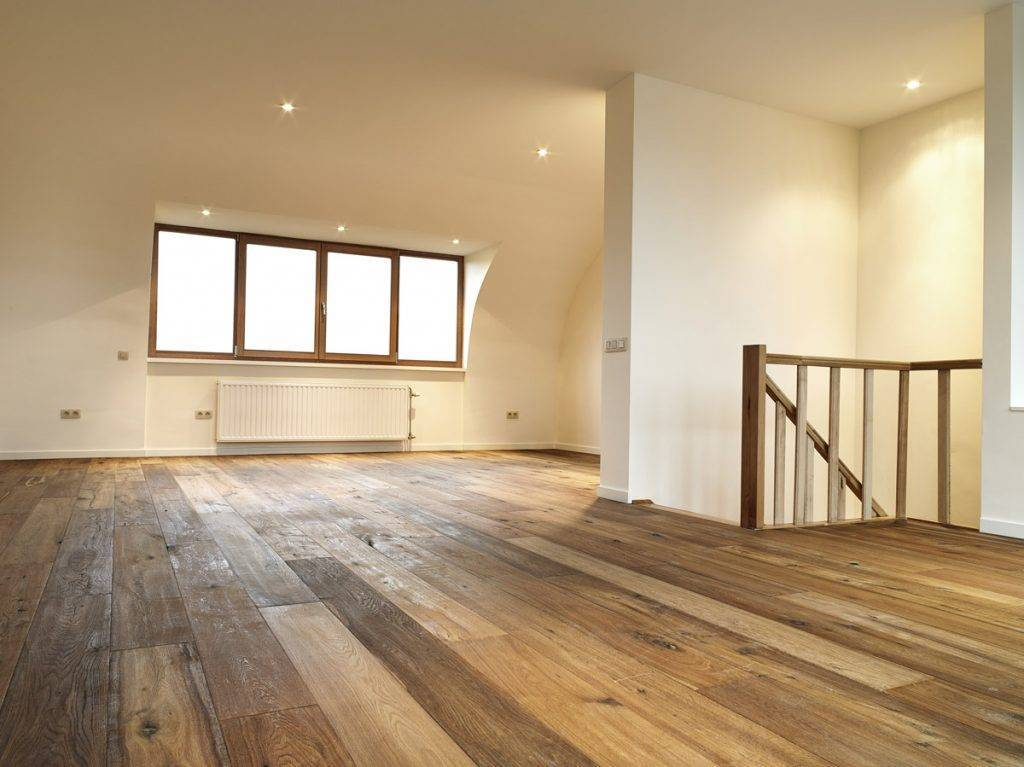 real wood planked floor boards