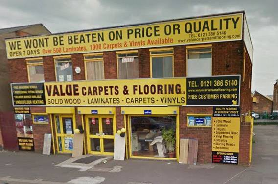 Value Carpets & Flooring Birmingham store exterior