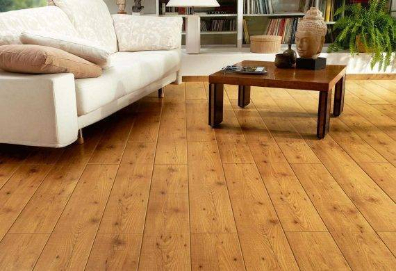 Chestnut Laminate flooring living room