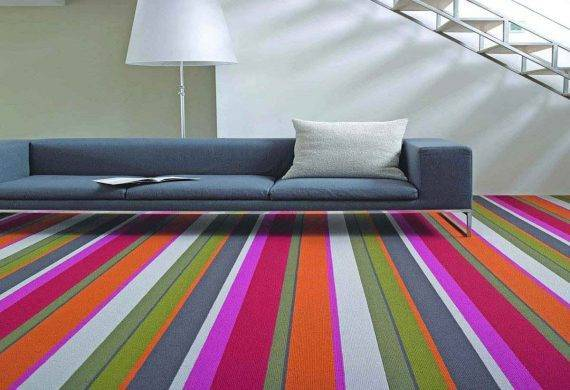 Bright stripe carpet multi colour