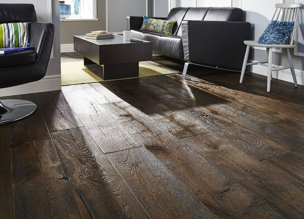Antique distressed oak engineered real wood flooring