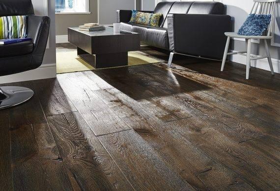 Antique distressed oak engineered real wood floor boards