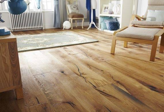 Oak distressed real wood engineered flooring