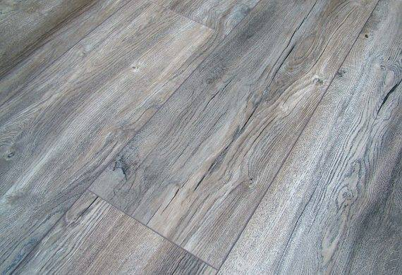 Kronotex Harbour Grey Oak wide plank laminate flooring