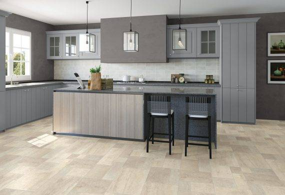 Quick step Exquisa laminate floor tiles kitchen
