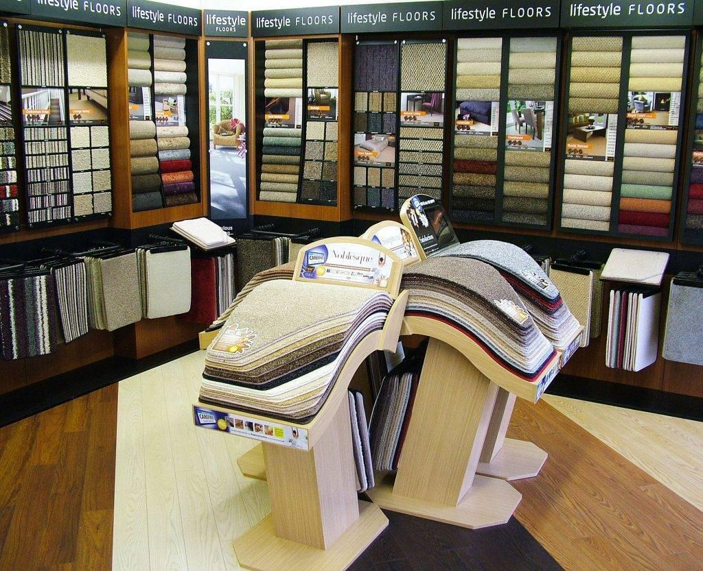 Carpet displays at Value Carpets & Flooring Birmingham
