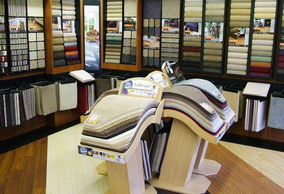 Carpet displays at Value Carpets & Flooring Birmingham