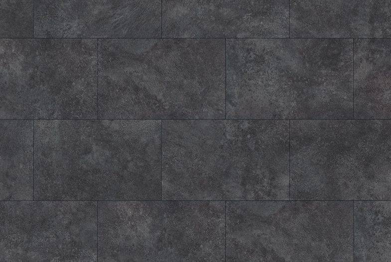 Egger Aqua waterproof Cremento black laminate floor tiles