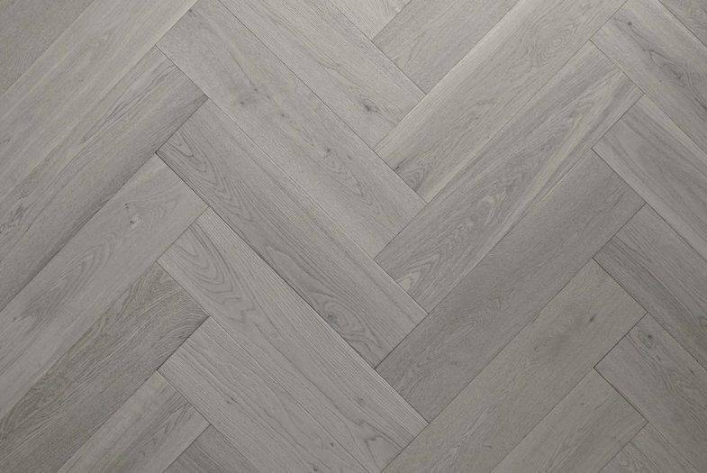 Herringbone Grey Oak laminate flooring