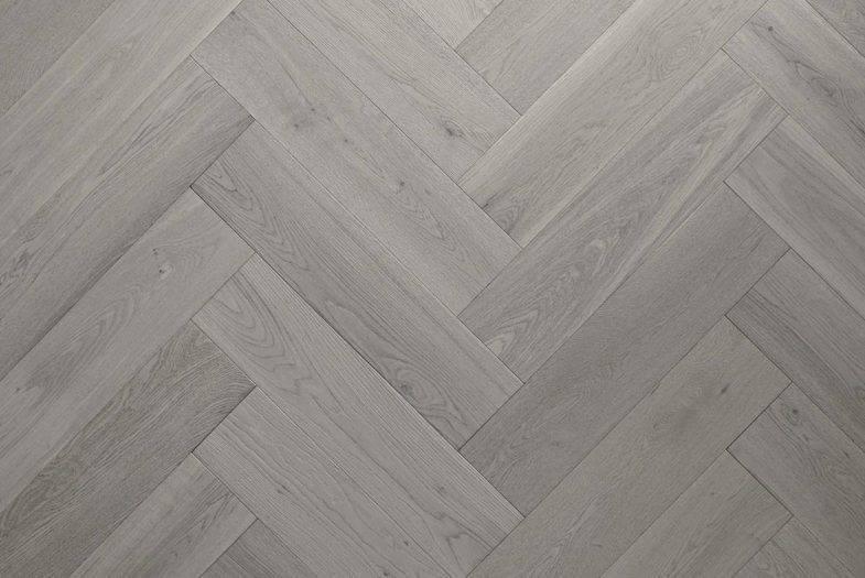 Herringbone Grey Oak laminate flooring