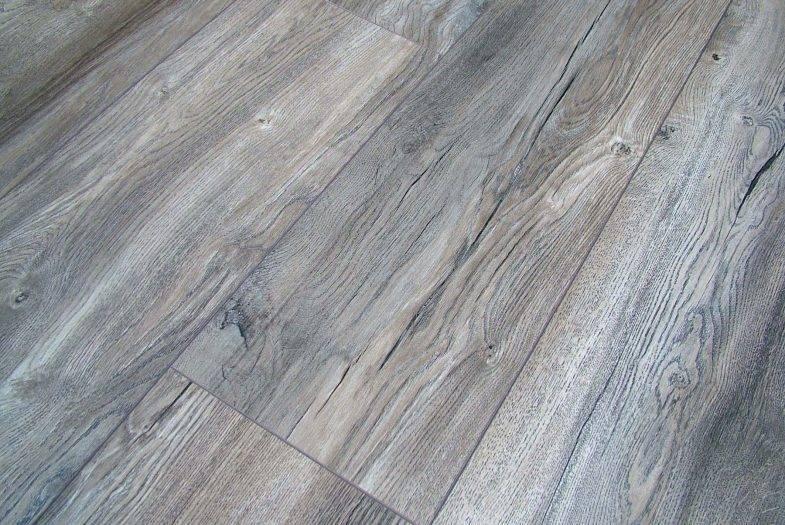 Kronotex Harbour Grey Oak wide plank laminate flooring