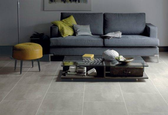 LVT luxury click vinyl tiles in grey