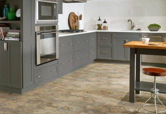 LVT luxury vinyl tiles kitchen