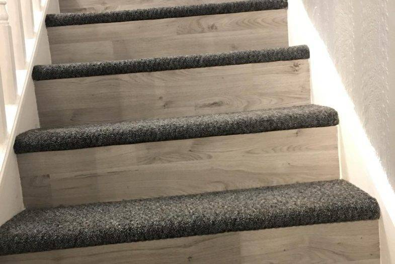 Fitting stair case laminate and carpet