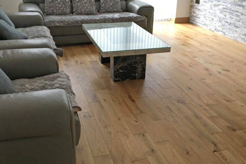 Engineered oak wood floor fitting job