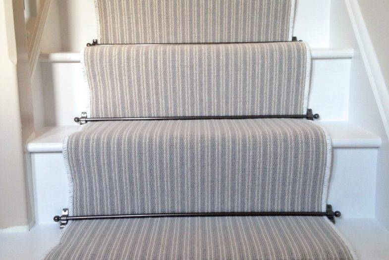 Fitting job with stair runner and rods