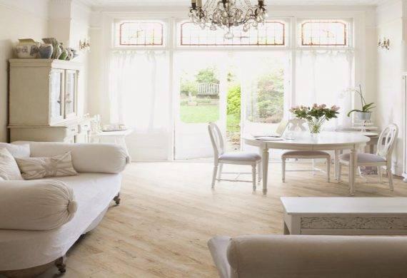 Bleached Larch LVT click flooring tiles