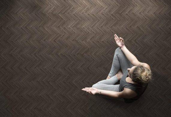 Ebony Herringbone LVT flooring