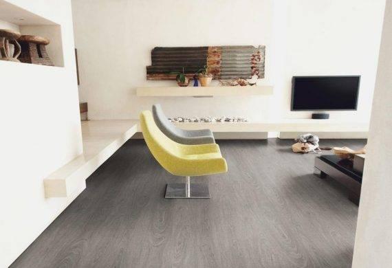 Luvanto Washed Grey Oak LVT click vinyl flooring tiles