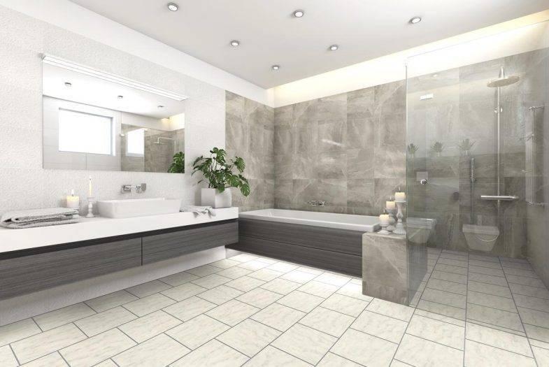 Luvanto White porcelein lvt vinyl tiles with feature strips