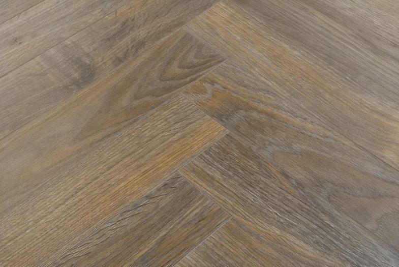8mm Java Oak Brown herringbone laminate flooring click